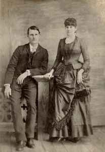 Ernest John Lyons, taken (probably in Abbeville, Louisiana, circa 1890) with his sister Ella